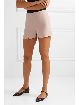 Valentino scalloped silk-crepe shorts