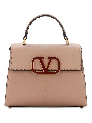 Valentino Sm vsling grained leather top handle