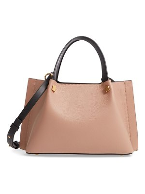 Valentino small vlogo leather tote