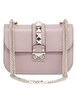 VALENTINO Small Rockstud Flap Lock-Chain Shoulder Bag