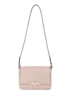 Valentino small rockstud leather flap shoulder bag