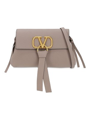 Valentino Small v ring grained leather bag