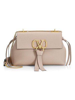 Valentino small vring leather shoulder bag