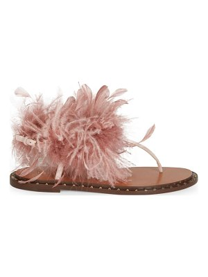 Valentino soul feathers thong sandals
