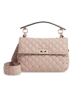 Valentino spike up matelasse calfskin leather shoulder bag