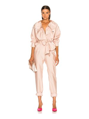 Valentino Sporty Belted Jumpsuit