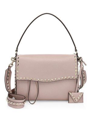 VALENTINO Studded Large Leather Shoulder Bag