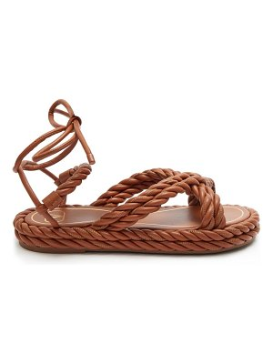 Valentino the rope ankle-tie leather sandals
