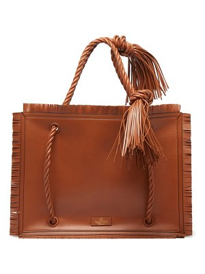 Valentino the rope large leather tote bag