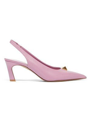 Valentino roman stud point-toe leather slingback pumps