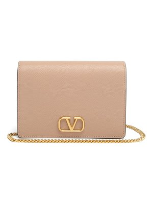 Valentino v-logo grained-leather shoulder bag