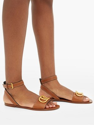 Valentino v-logo leather sandals