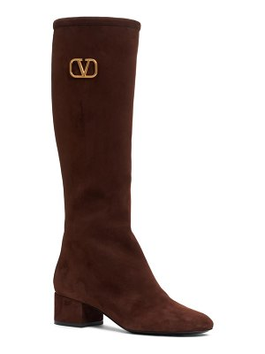 Valentino v-logo tall boot