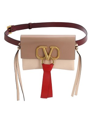 Valentino V ring 3 color smooth leather belt bag