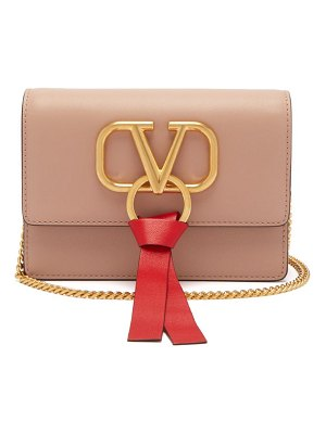 Valentino v-ring mini leather cross-body bag
