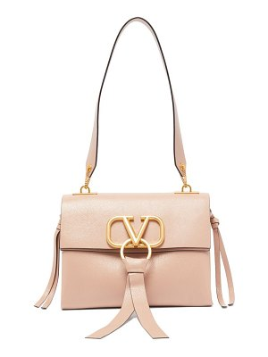 Valentino v ring small leather shoulder bag