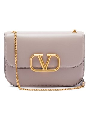 Valentino v ring two tone leather shoulder bag
