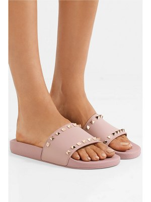 Valentino valentino garavani the rockstud faux leather slides