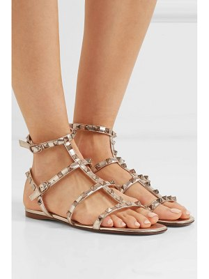 Valentino valentino garavani rockstud metallic leather sandals