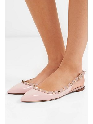 Valentino valentino garavani the rockstud patent-leather point-toe flats