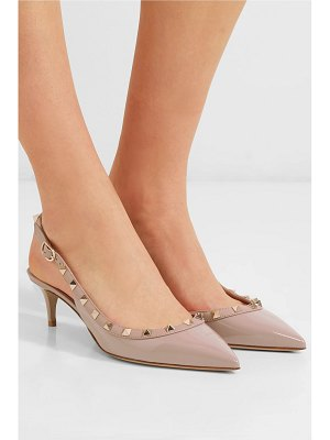 Valentino valentino garavani the rockstud patent-leather slingback pumps