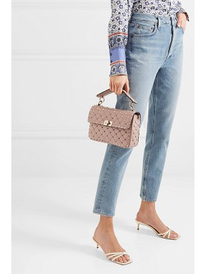 Valentino valentino garavani the rockstud spike medium quilted leather shoulder bag