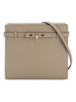Valextra B-tracollina grained leather bag