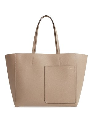 Valextra grained leather tote