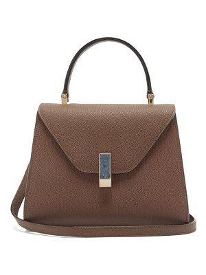 Valextra iside stone-clasp leather bag