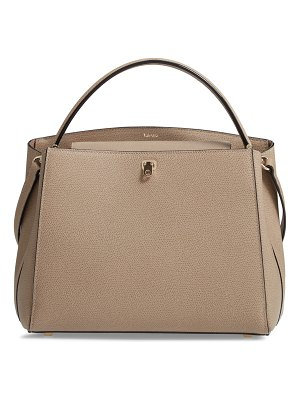Valextra medium brera leather top handle bag