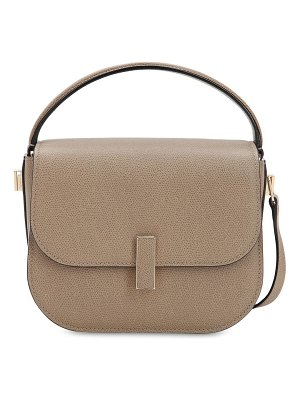 Valextra Mini iside grained leather crossbody bag