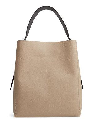 Valextra sacca leather hobo