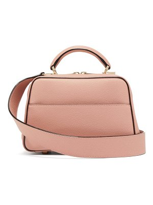 Valextra serie s small grained-leather bag