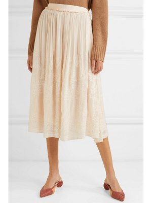 Vanessa Bruno lise embroidered voile midi skirt