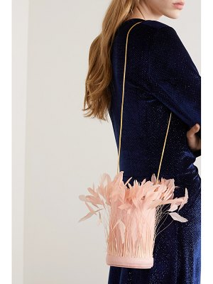 Vanina l'envol feather-embellished satin shoulder bag