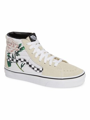 Vans sk8-hi checker floral high top sneaker