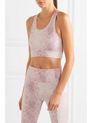 Varley berkeley snake-print stretch sports bra