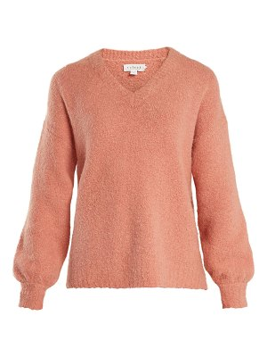 Velvet by Graham & Spencer Erin V-neck bouclé sweater