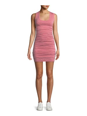 Velvet Genisa Scoop-Neck Ruched Stripe Tank Dress