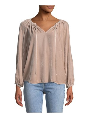 Velvet Rebecca Velvet V-Neck Long-Sleeve Top