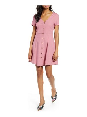 Vero Moda anna button through fit & flare dress
