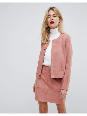 VERO MODA Two-Piece Faux Suede Blazer