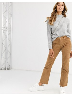 Vero Moda cord straight leg pants in tan