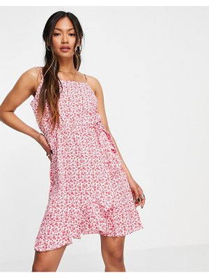 Vero Moda frill cami dress in pink ditsy floral