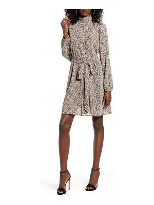 Vero Moda josephine belted long sleeve dress