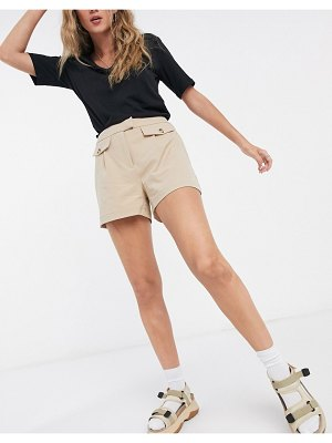 Vero Moda safari shorts in tan-beige