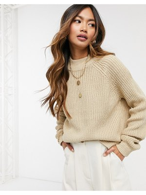 Vero Moda sweater with high neck in beige