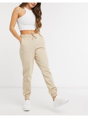 Vero Moda sweatpants in camel-beige