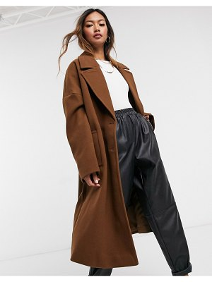 Vero Moda tailored coat in brown