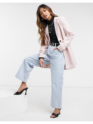 Vero Moda tailored coat in pink